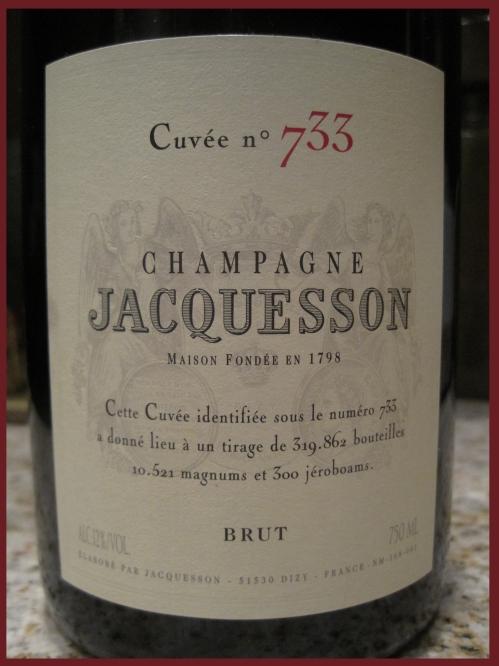 """Champagne Jacquesson """"Cuvee No. 733"""""""